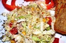 Salatka z zupek chińskich